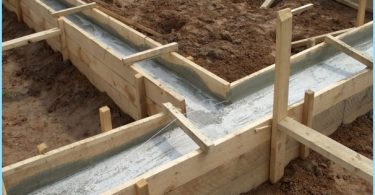 The proportions of the concrete for the foundation