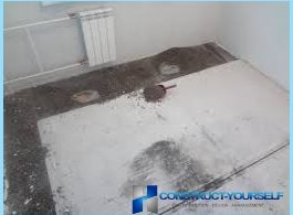 How to dry screed floor with their hands