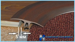 The thickness of the laminate to the substrate