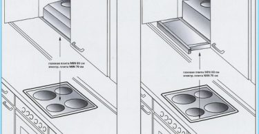 How to install the hood over the gas stove