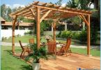 How to make a pergola with their hands, step by step guide