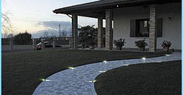 Illuminated paving slabs