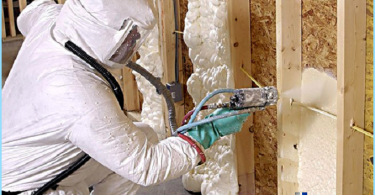 Thermal insulation foam with your hands