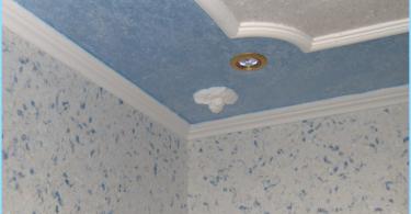 Liquid wallpaper in the bathroom