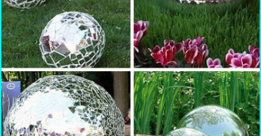The use of glass for the garden paths: glass multicolor