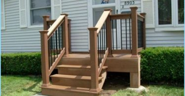 Steps to front porch of wood
