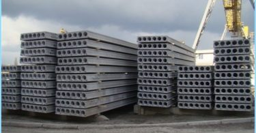 Concrete slab road, hollow, flat, coating plates