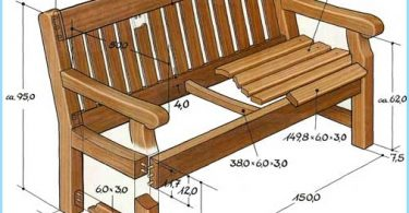 Make a garden bench with his hands
